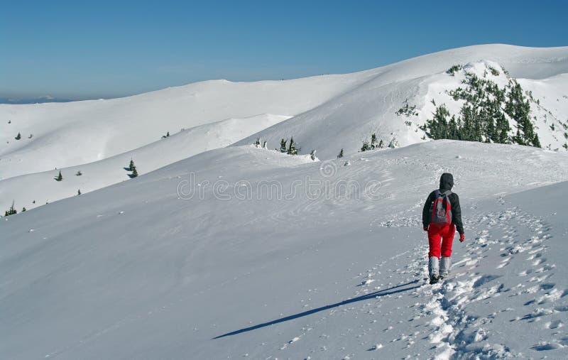 De bergketen in smokey zet op royalty-vrije stock foto
