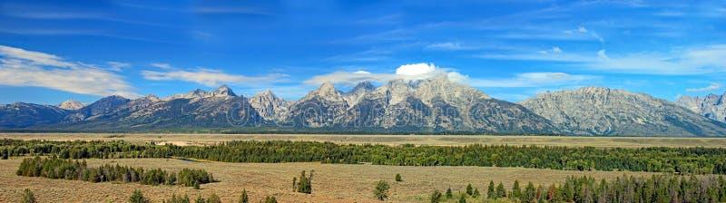 De bergketen van Grand Teton in Wyoming royalty-vrije stock foto's