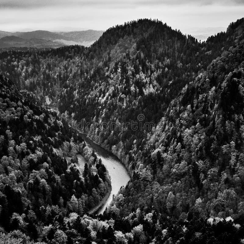 De bergketen van Pieniny royalty-vrije stock afbeelding