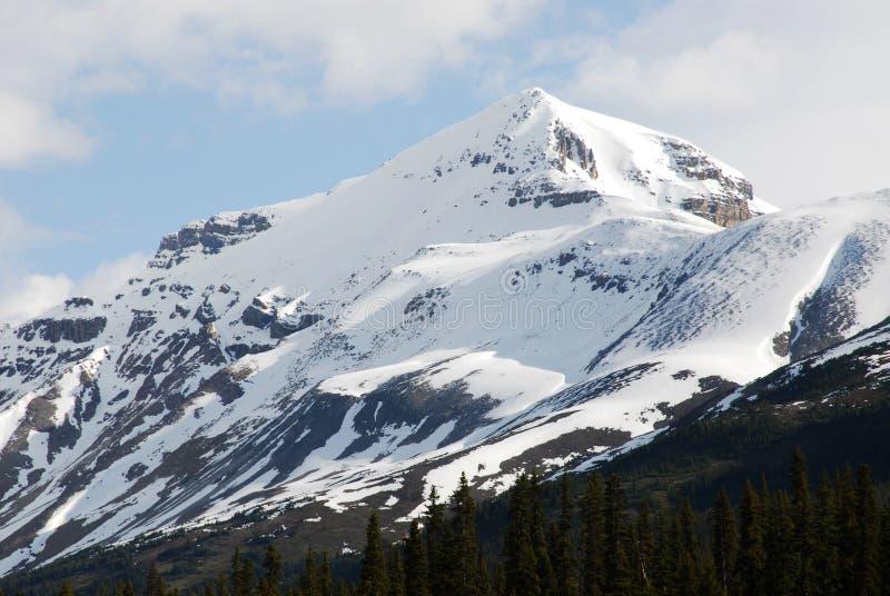 De bergpiek van de sneeuw stock afbeeldingen