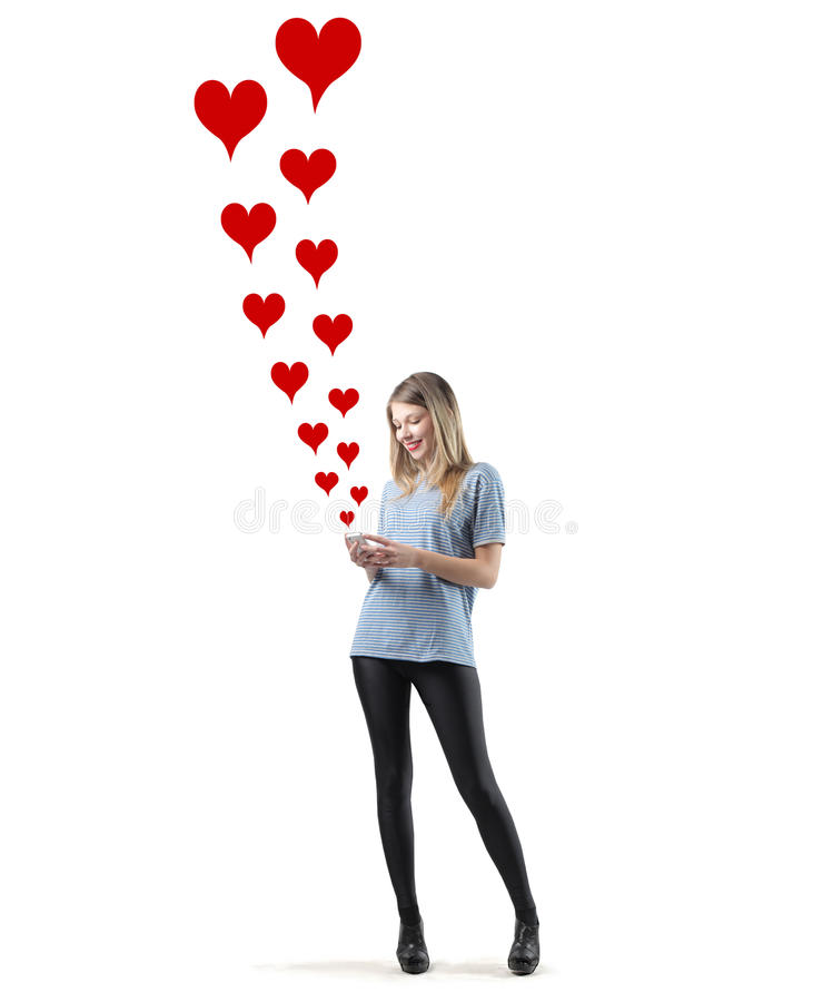 De berichten van de liefde stock foto