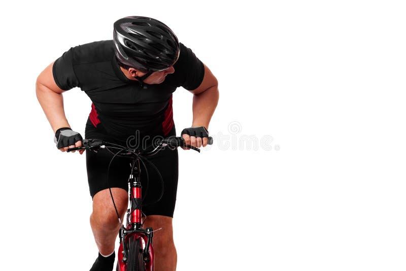 De Berijdende Fiets van de fietser stock fotografie