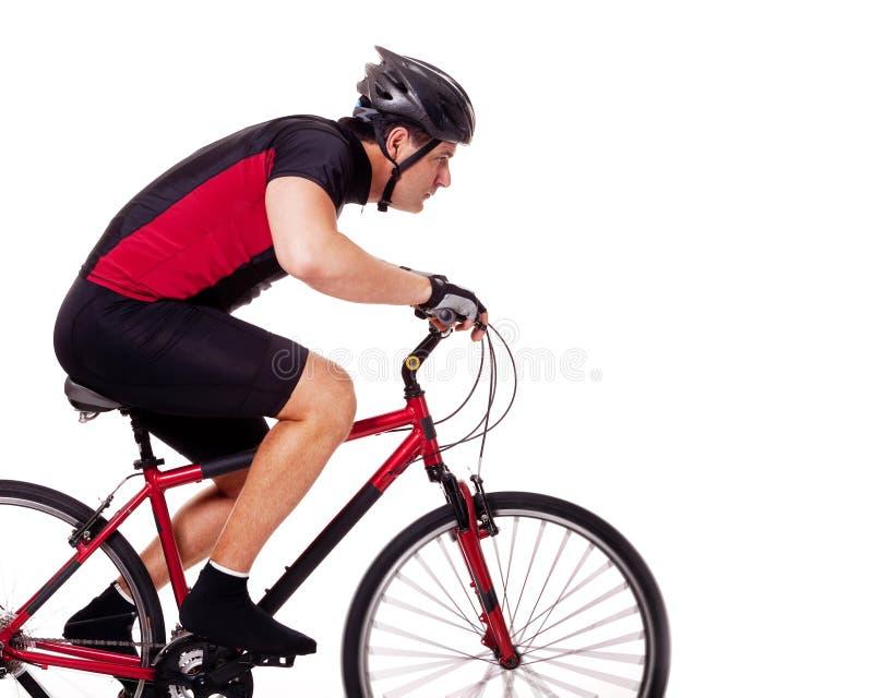De Berijdende Fiets van de fietser royalty-vrije stock afbeeldingen