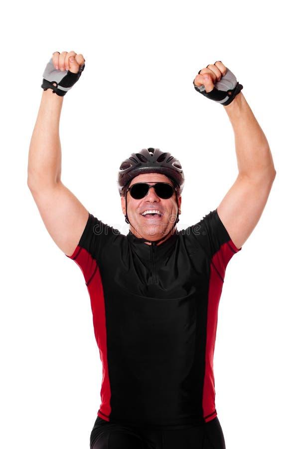 De Berijdende Fiets van de fietser stock foto