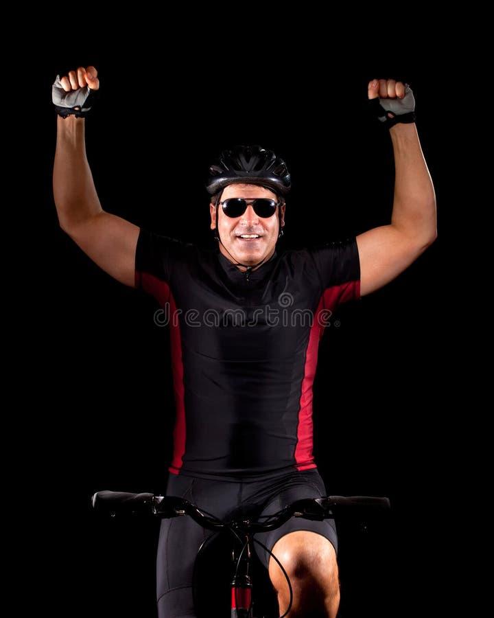 De Berijdende Fiets van de fietser stock foto's