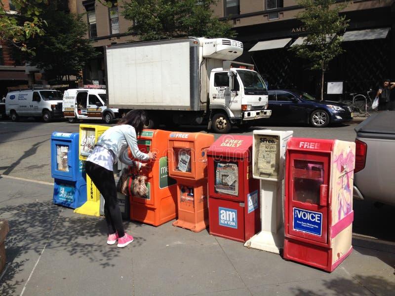 de beroemde Amerikaanse krantenvakjes stock fotografie