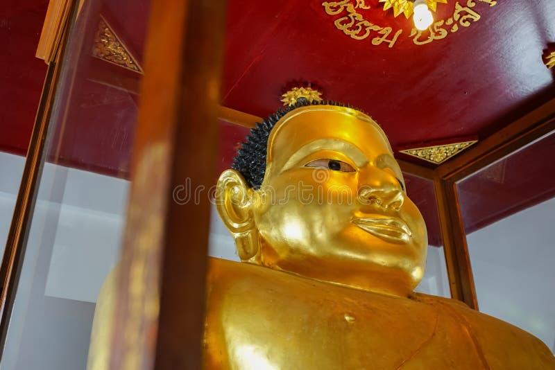 De beroemde Bhudda-afbeelding Prah Add in Wat Phra Mahathat Woramahawihan royalty-vrije stock afbeeldingen