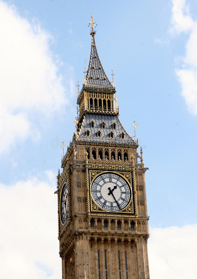 De beroemde Big Ben van Londen stock foto's