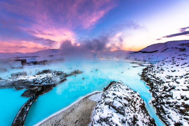 De beroemde blauwe lagune dichtbij Reykjavik, IJsland stock afbeelding