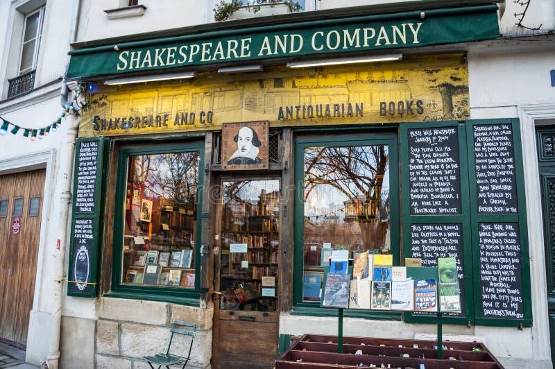 De beroemde boekhandel van Shakespeare en van het Bedrijf stock afbeelding