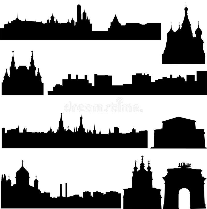 De beroemde gebouwen van Rusland stock illustratie
