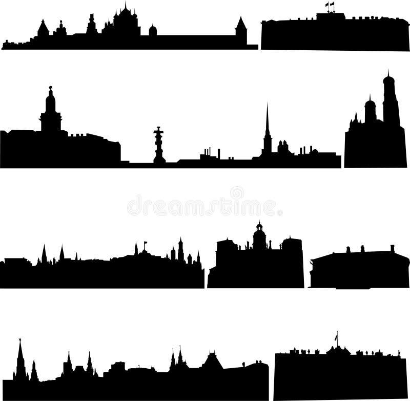 De beroemde gebouwen van Rusland vector illustratie
