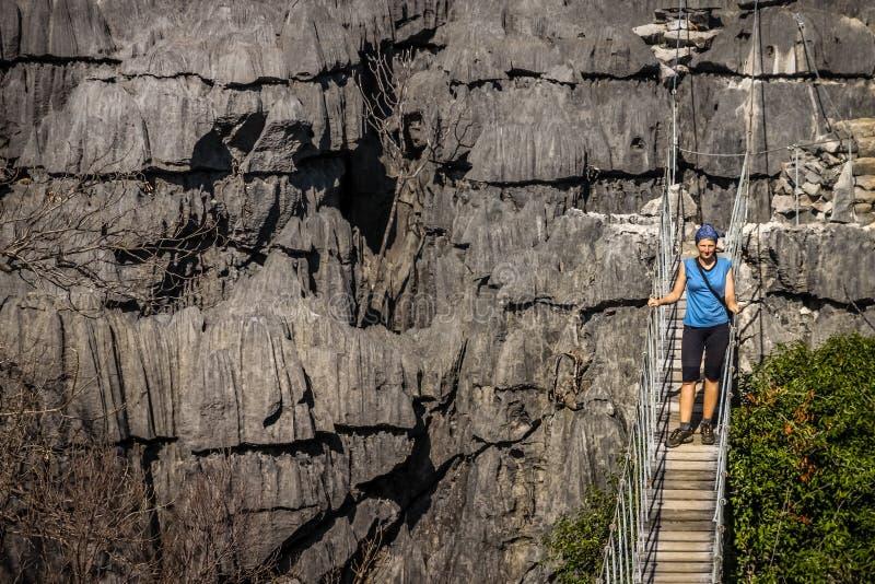 De beroemde hangende brug van Ankarana royalty-vrije stock afbeeldingen