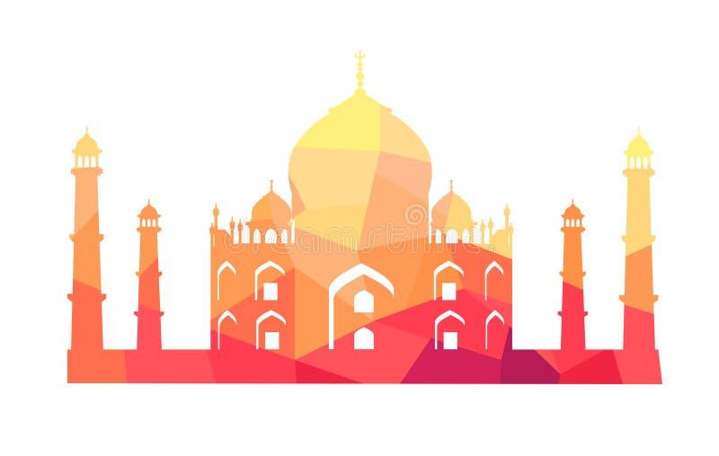 De beroemde Indische Bouw van Taj Mahal Illustration royalty-vrije illustratie