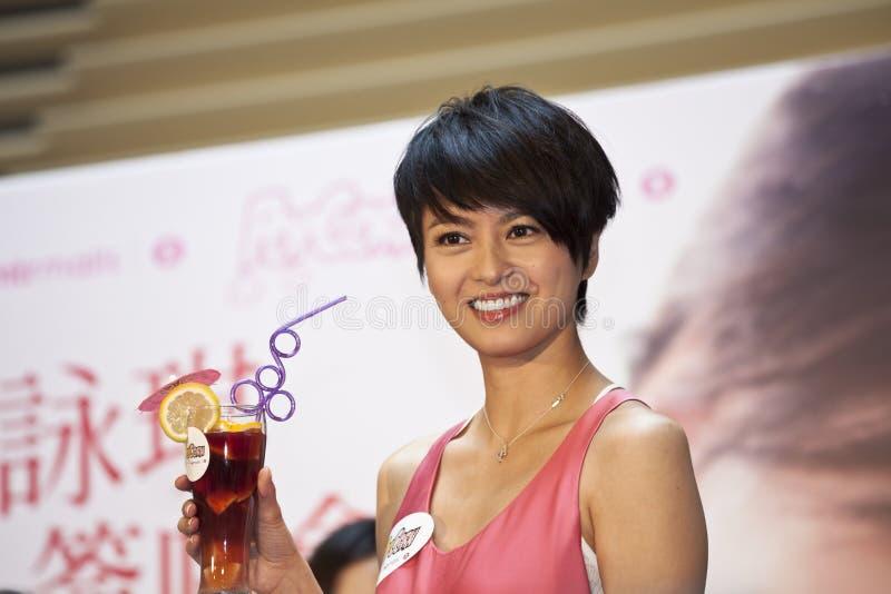 De beroemde ster Gigi Leung bevordert haar nieuwe CD stock foto