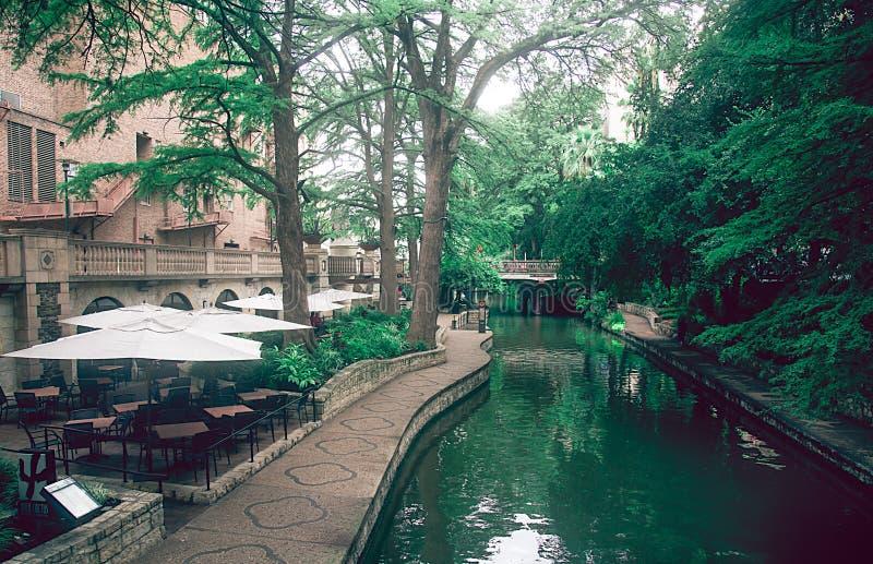 De beroemde V.S. San Antonio River Texas Walk royalty-vrije stock foto