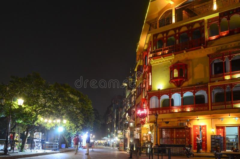 De Beroemde Voedselstraat, Lahore, Punjab, Pakistan royalty-vrije stock fotografie