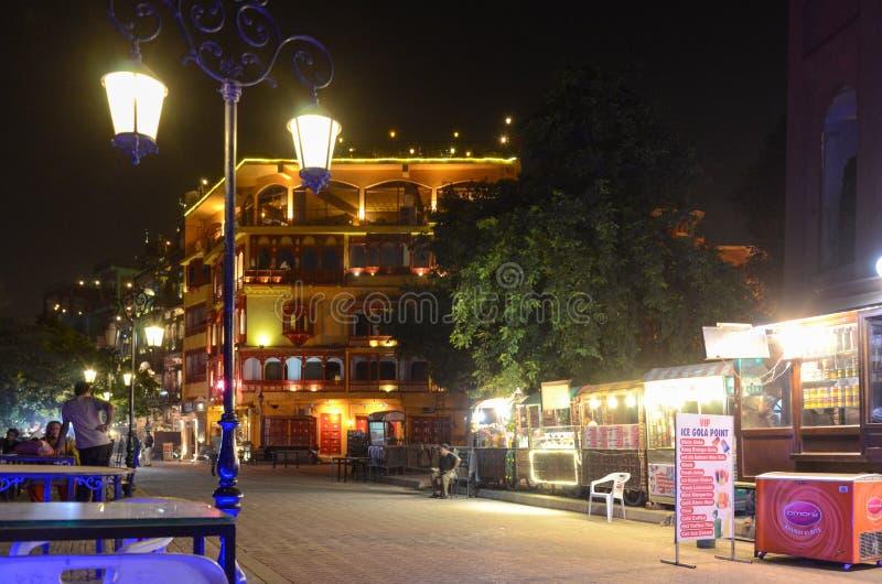 De Beroemde Voedselstraat, Lahore, Punjab, Pakistan stock afbeeldingen