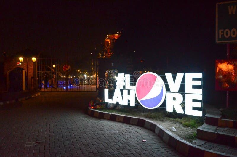 De Beroemde Voedselstraat, Lahore, Punjab, Pakistan royalty-vrije stock afbeelding