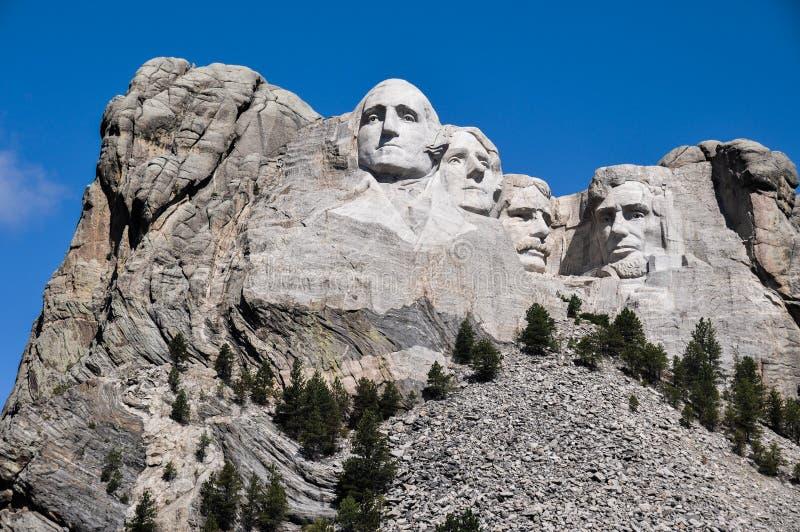De beroemde Voorzitters van de V.S. op het Nationale Monument van Onderstelrushmore, Zuiden stock foto's