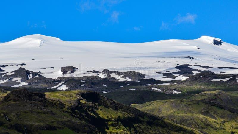 De beruchte Eyjafjallajokull-vulkaan, Zuid-IJsland royalty-vrije stock afbeeldingen