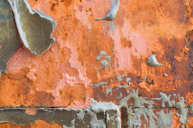 De beschadigde geschilderde achtergrond van de metaaltextuur stock afbeeldingen