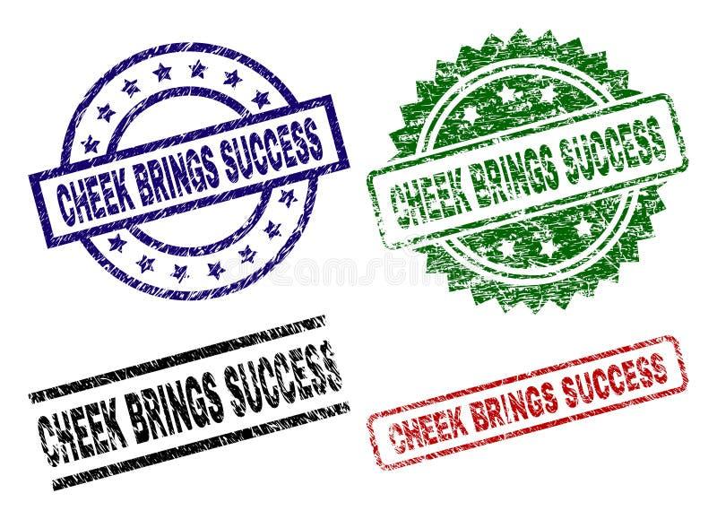 De beschadigde Geweven WANG BRENGT de Verbindingen van de SUCCESzegel stock illustratie