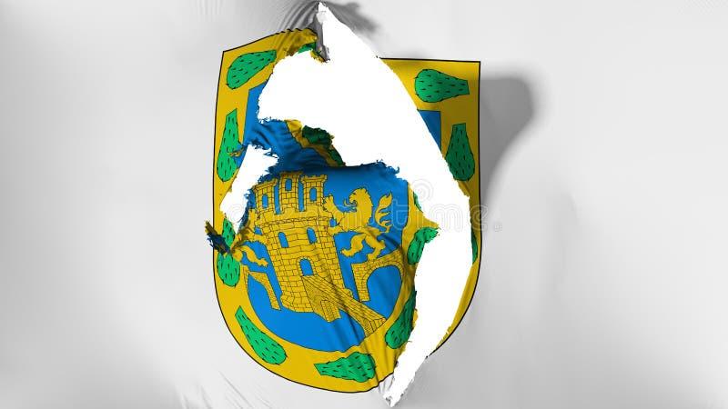 De beschadigde vlag van Mexico-City royalty-vrije illustratie