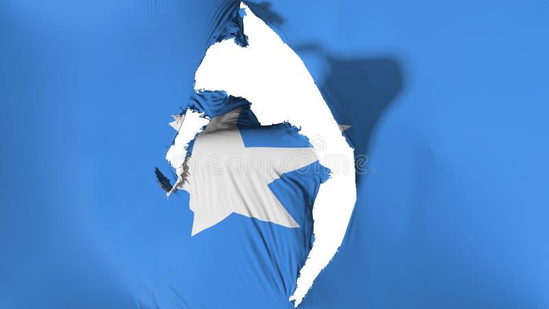 De beschadigde vlag van Somalië royalty-vrije illustratie