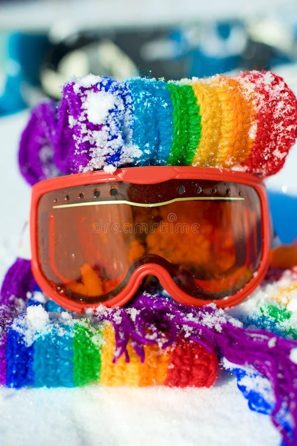 De beschermende brillen van de ski royalty-vrije stock afbeelding