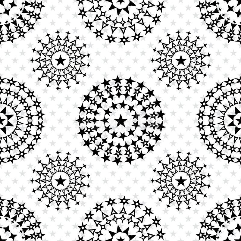 De beschermer naadloos patroon van stermandala stock illustratie