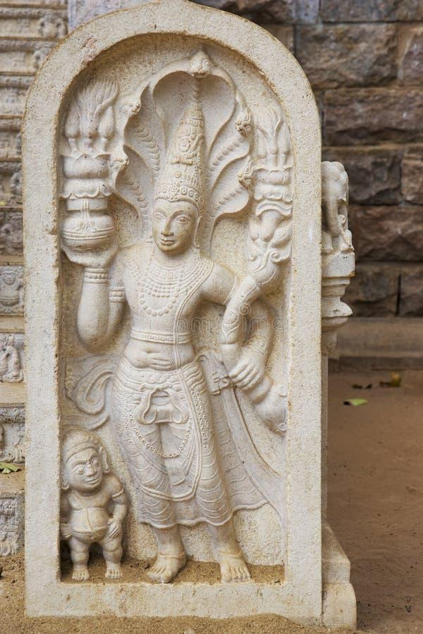 De Beschermer van de steen bij Bodhi Tempel, Sri Lanka royalty-vrije stock fotografie