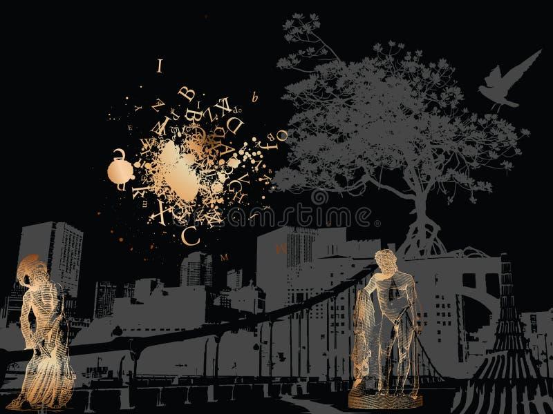 De beschermers van de stad stock illustratie