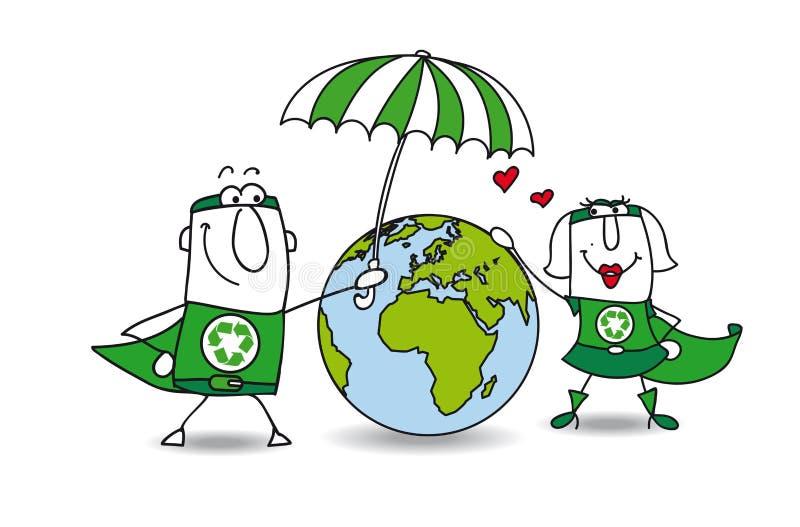 De bescherming van de aarde stock illustratie
