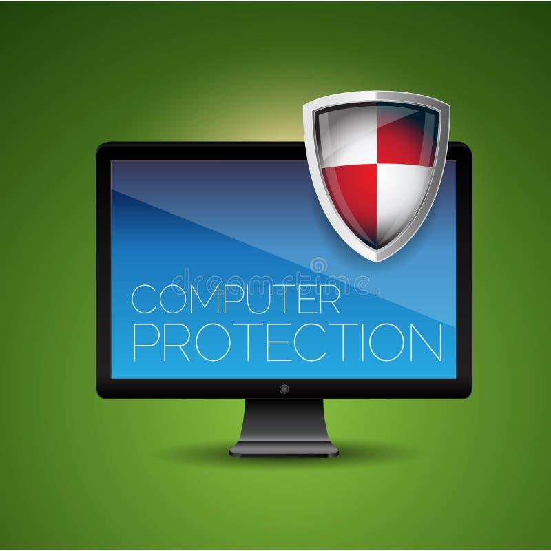 De bescherming van de computer vector illustratie