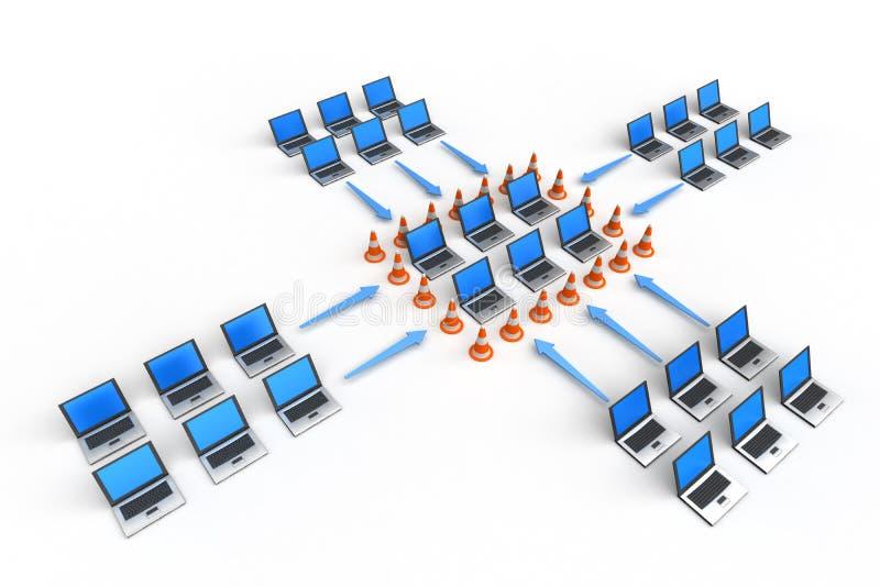 De Bescherming van de firewall vector illustratie