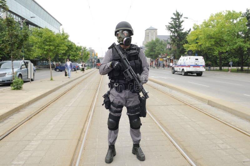De bescherming van de politie TTC. royalty-vrije stock afbeeldingen