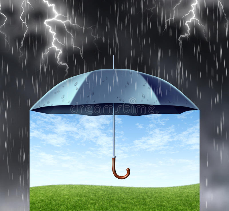 De Bescherming van de verzekering vector illustratie