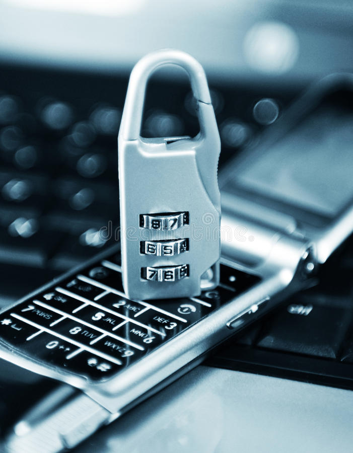 De bescherming van gegevens royalty-vrije stock afbeelding
