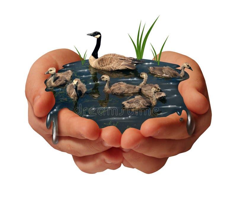 De bescherming van het milieu stock illustratie