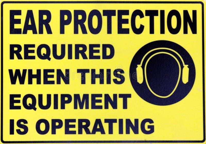 De Bescherming van het oor royalty-vrije stock foto's