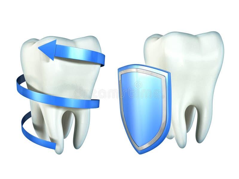 De bescherming van tanden royalty-vrije illustratie