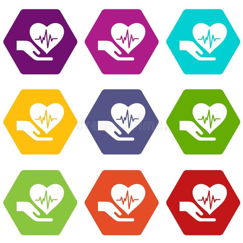 Download De Beschermings Van De Gezondheidpictogrammen Plaatsen Vector 9 Vector Illustratie - Illustratie bestaande uit verzekering, apotheek: 114226342