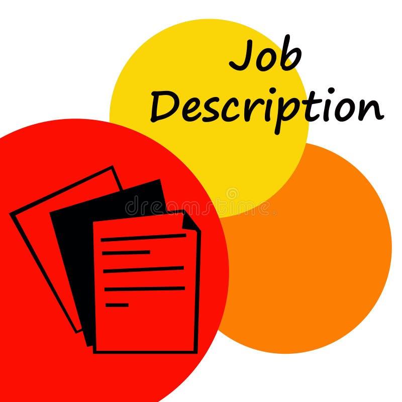 De beschrijving van de baan stock illustratie