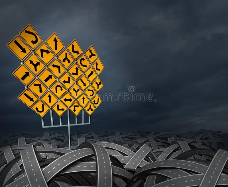 De Besluiten van de Strategie van de richting stock illustratie