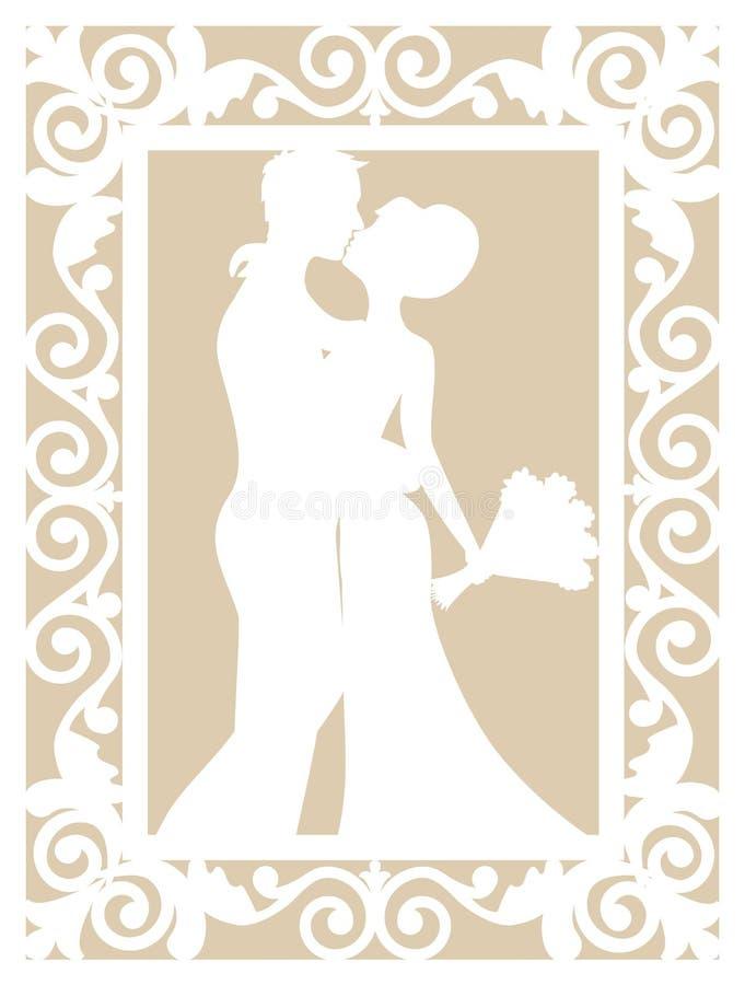 De besnoeiing van de huwelijkslaser royalty-vrije illustratie
