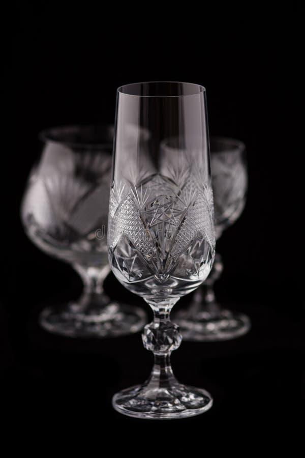 De besnoeiingsglas van het kristal royalty-vrije stock afbeelding