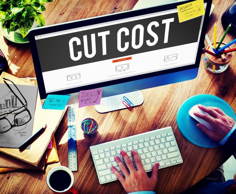 De besnoeiingskosten verminderen het Concept van de Economiefinanciën van het Recessietekort royalty-vrije stock foto