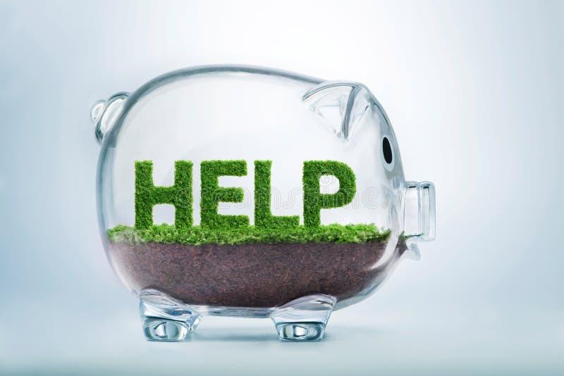 De besparingen van de grasgroei & het concept van de investeringshulp royalty-vrije stock foto