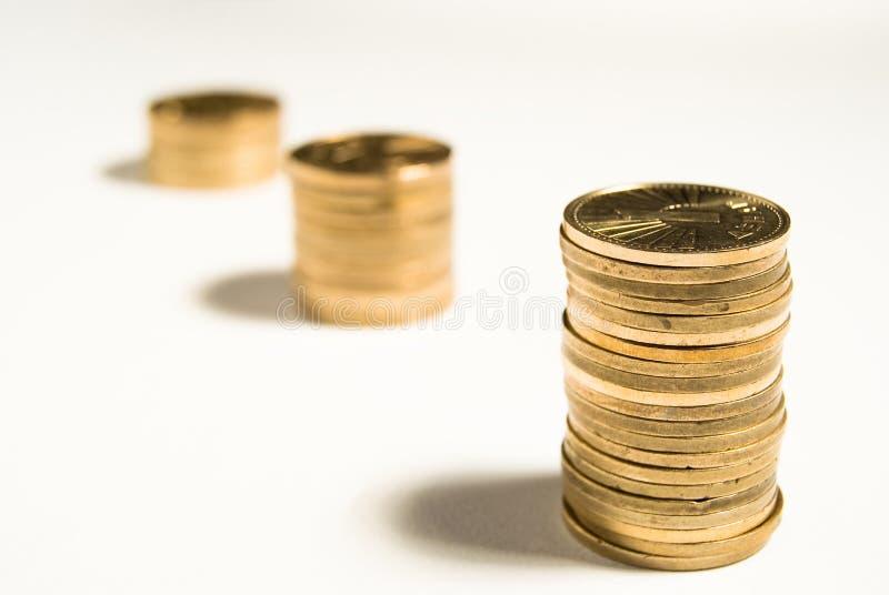 De besparingen van het geld stock foto